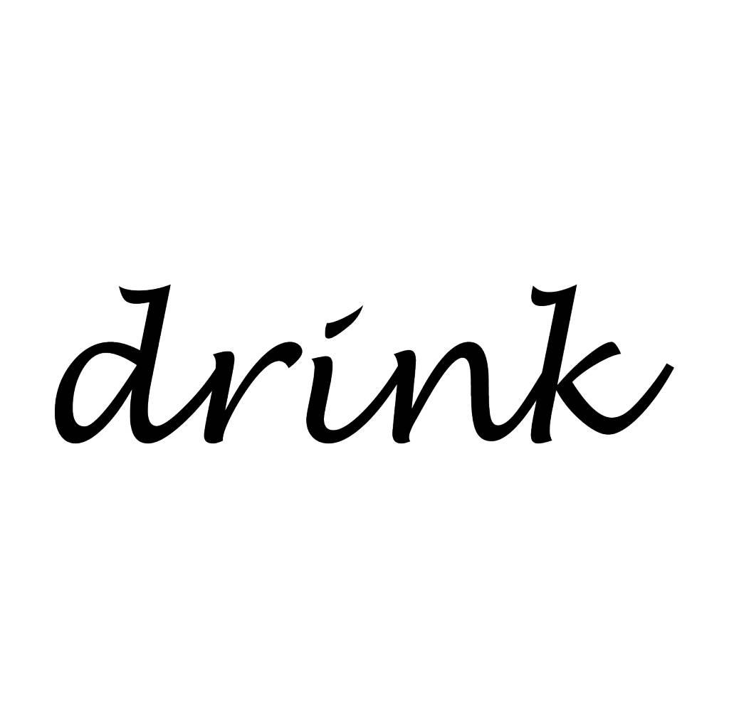 Drink Klebebuchstaben