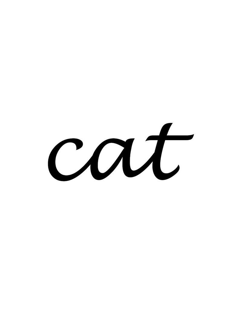 Cat Klebebuchstaben