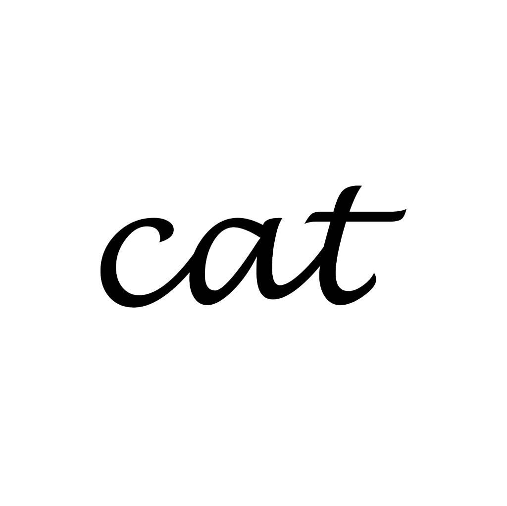 Cat lettres adhésives