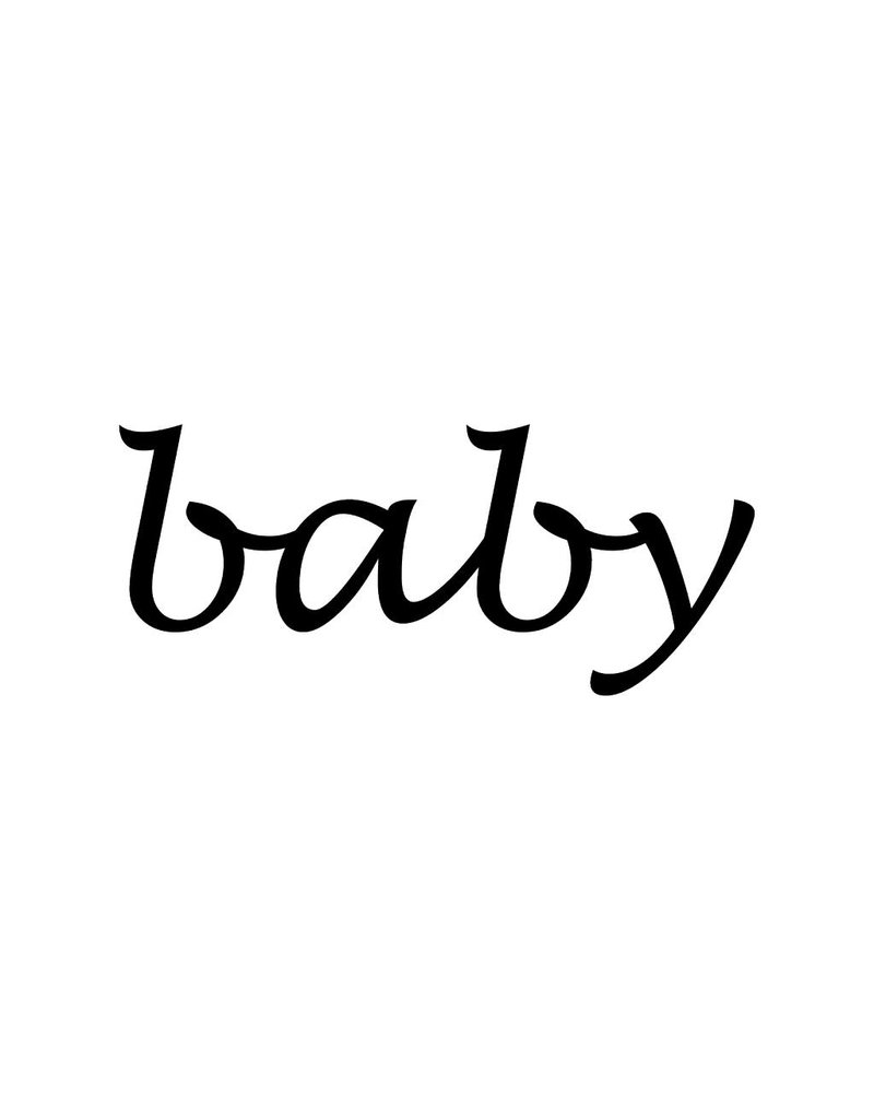 Baby Letter Stickers