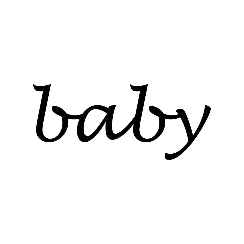 Baby Klebebuchstaben