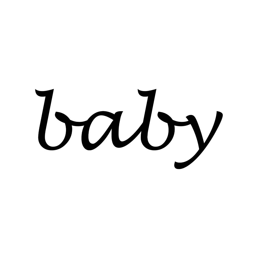 Baby lettres adhésives