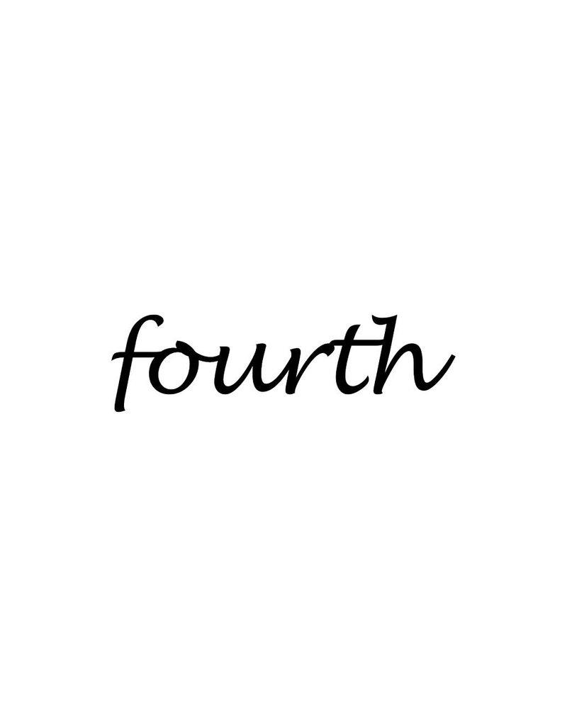 Fourth Klebebuchstaben