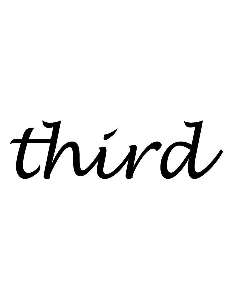 Third Klebebuchstaben