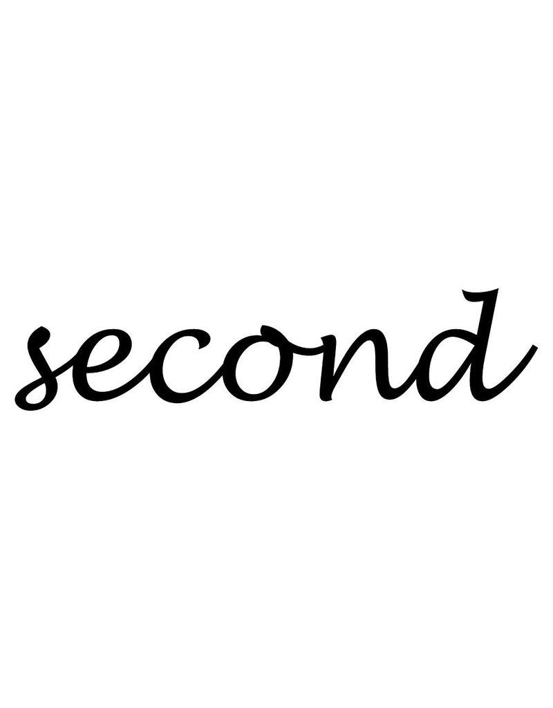 Second Klebebuchstaben