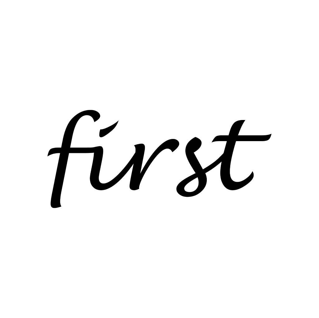 First Klebebuchstaben