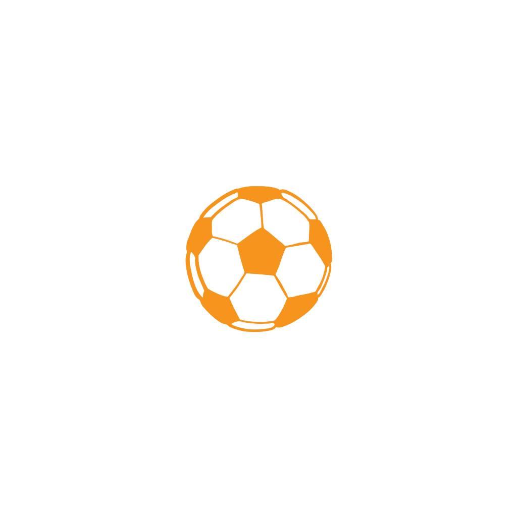 Fußball Orange