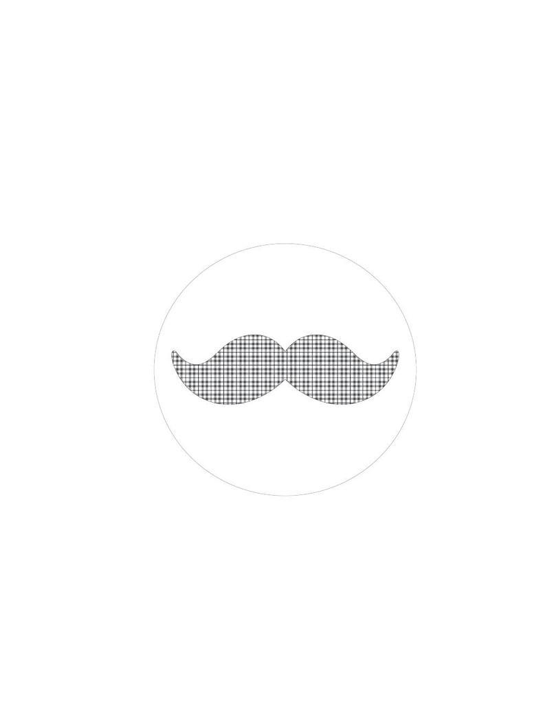 Autocollant moustache modèle 2