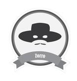 Autocollant moustaches célèbres Zorro