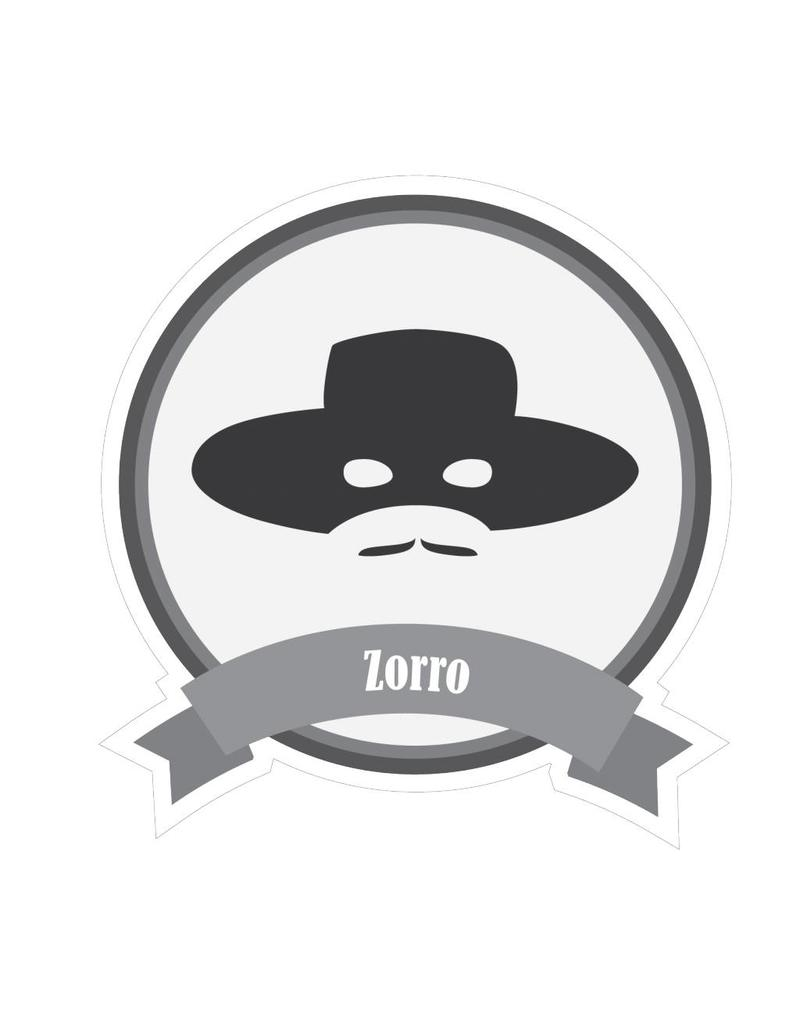 Famous moustaches Zorro sticker