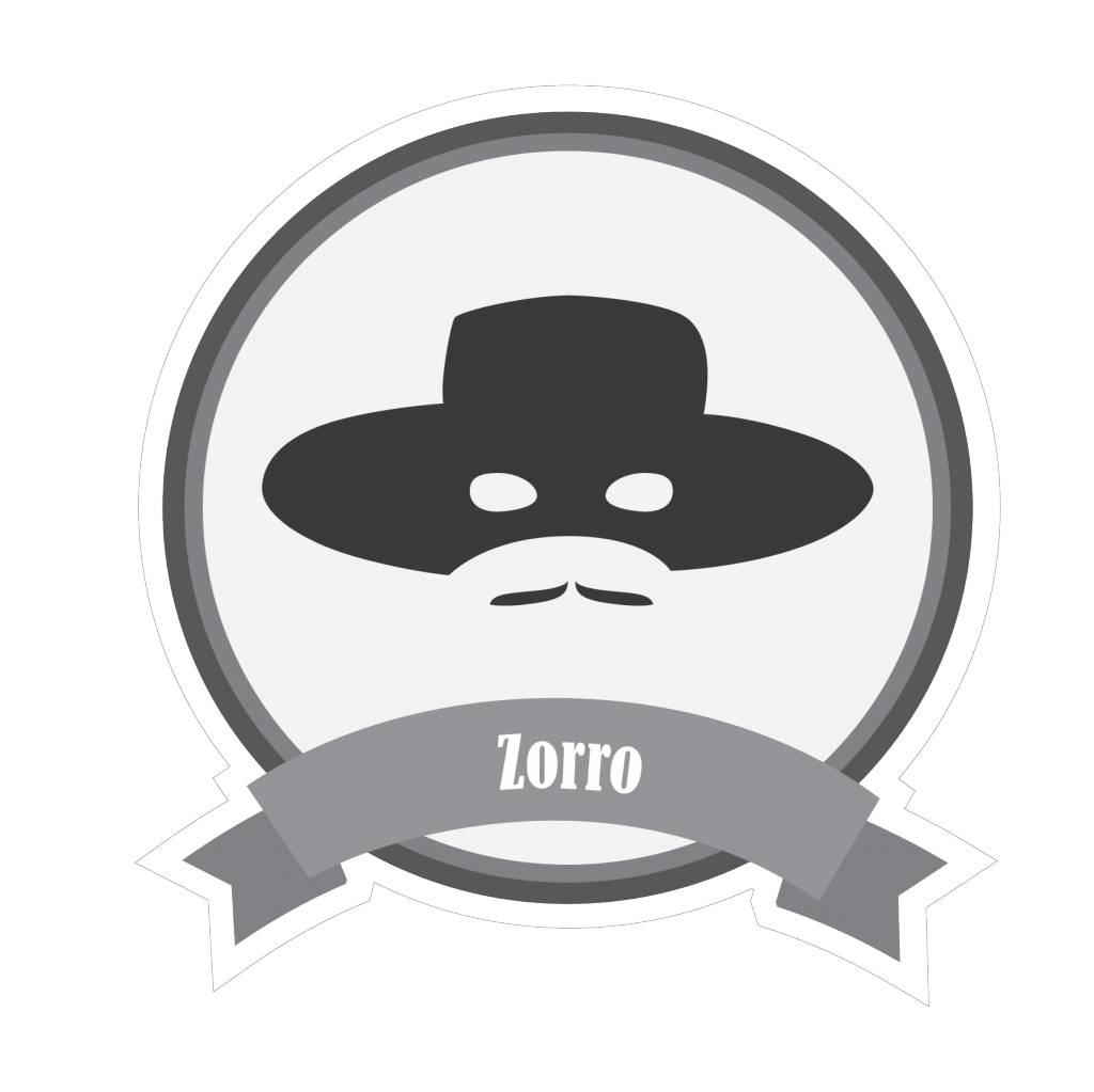 Pegatina bigotes famosos Zorro