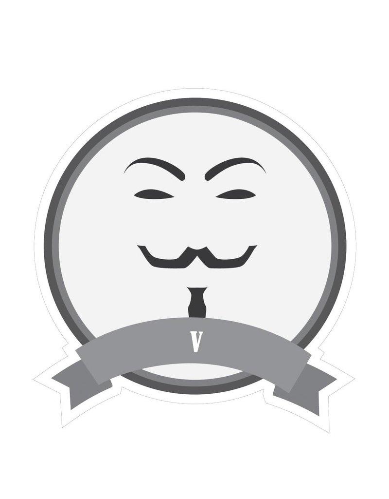Famous moustaches V Sticker