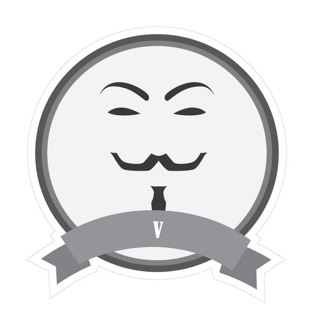 Beroemde snorren V Sticker