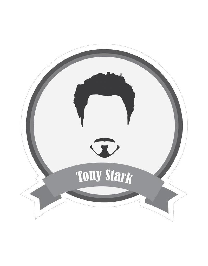 Autocollant moustaches célèbres Stark