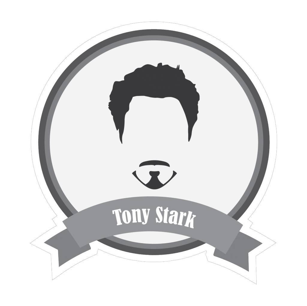 Famous moustaches Stark Sticker