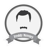 Beroemde snorren Mercury Sticker