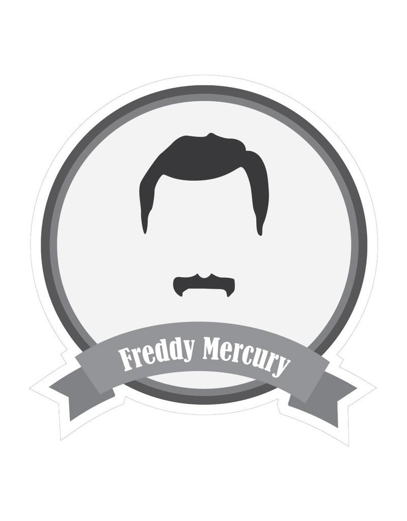 Pegatina bigotes famosos Mercury