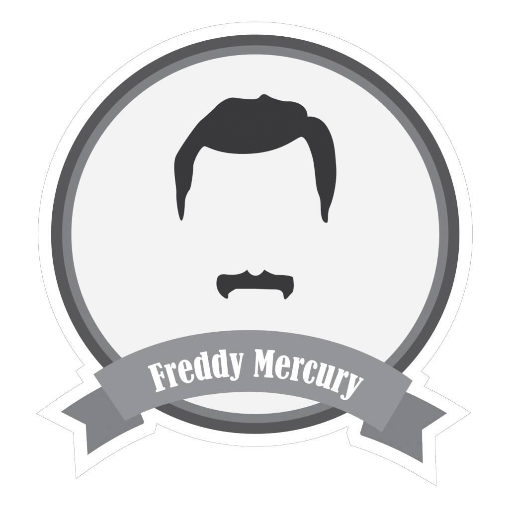 Famous moustaches Mercury Sticker