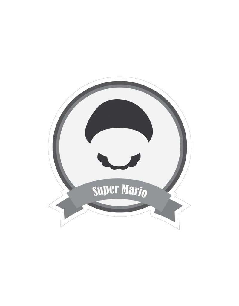 Famous moustaches Mario Sticker