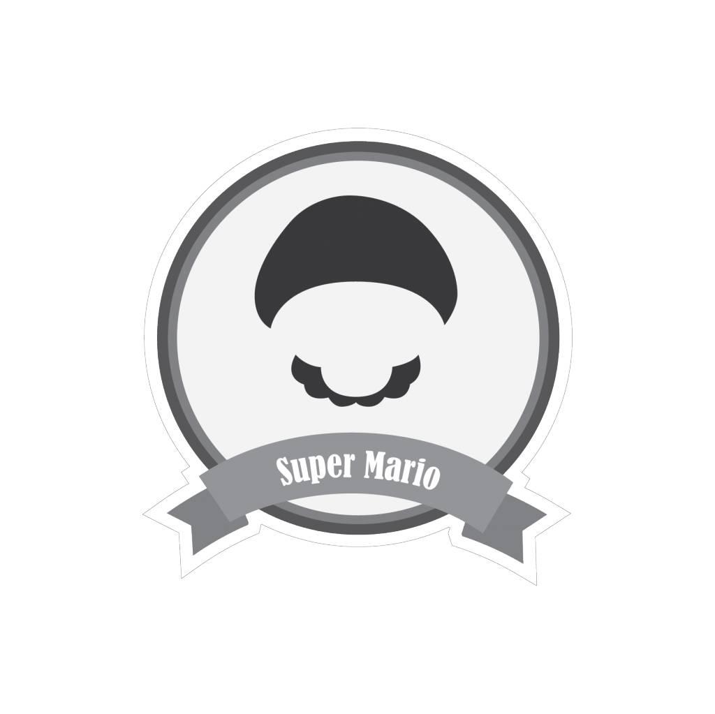Autocollant moustaches célèbres Mario