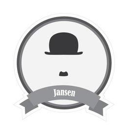 Berühmter Schnurrbart Jansen Sticker