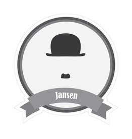 Pegatina bigotes famosos Jansen