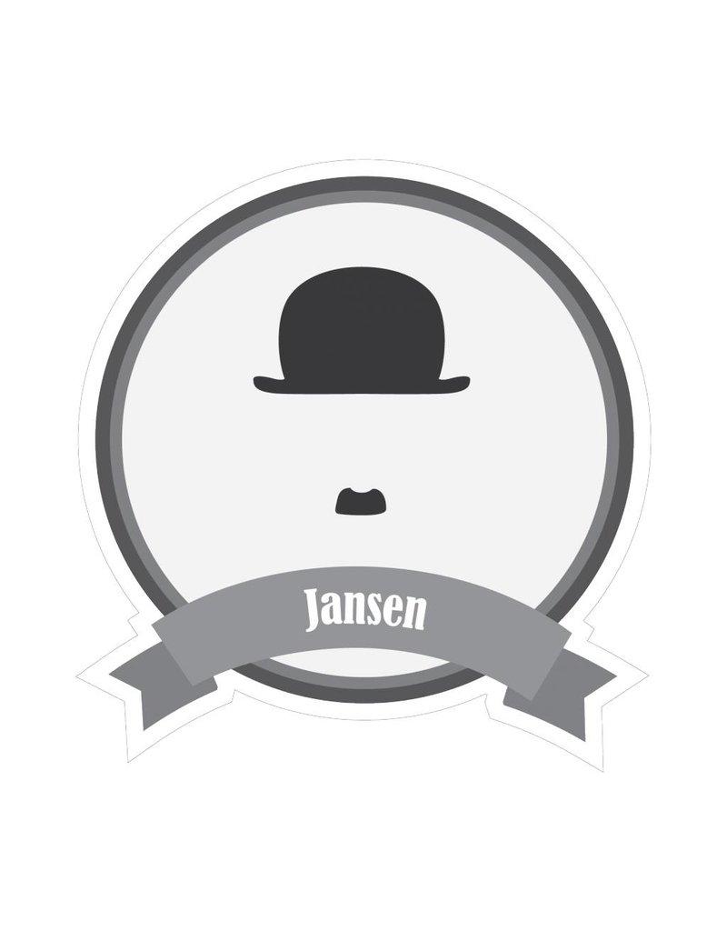 Autocollant moustaches célèbres Jansen
