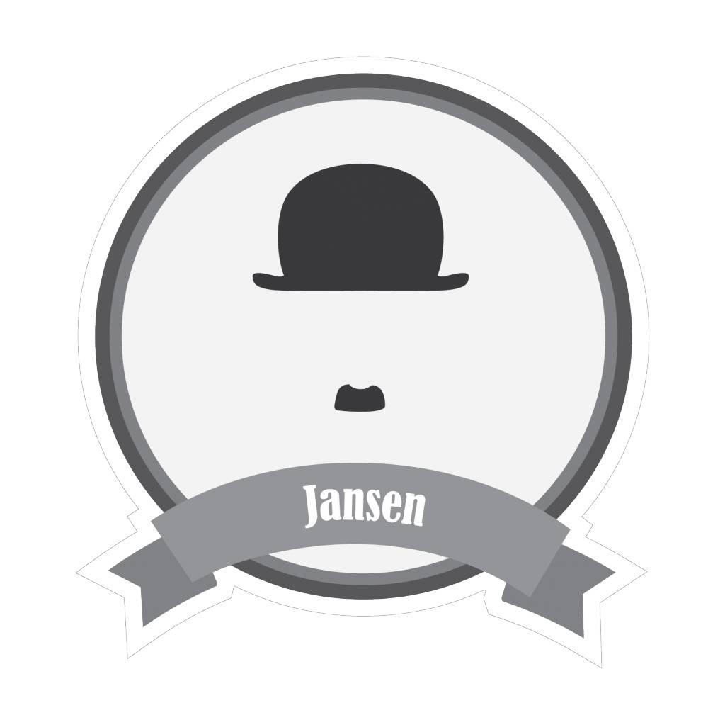 Famous moustaches Jansen Sticker