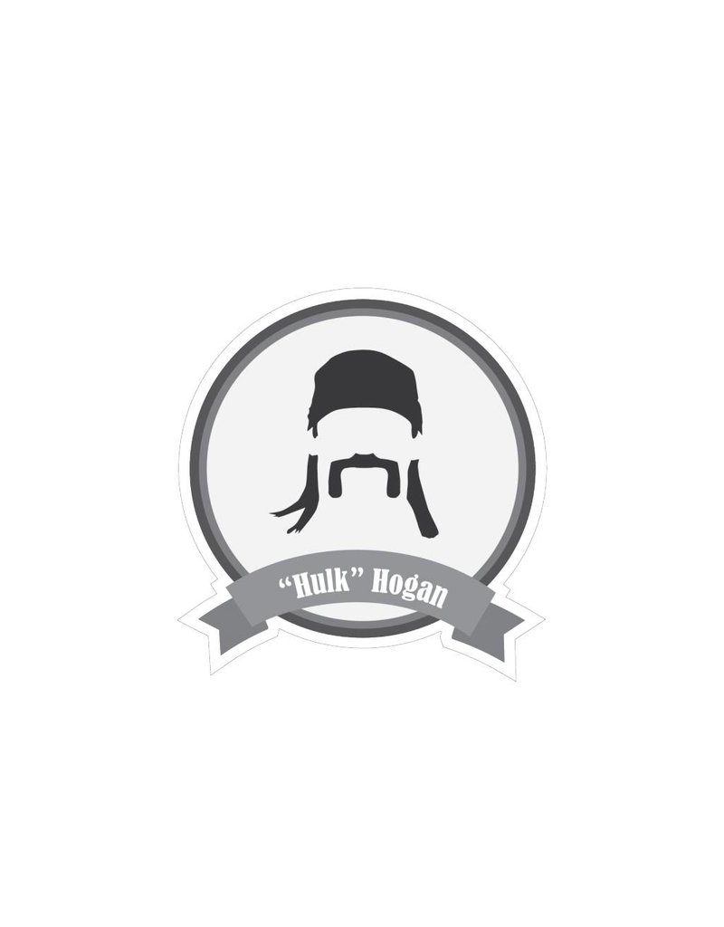 Famous moustaches Hulk Sticker