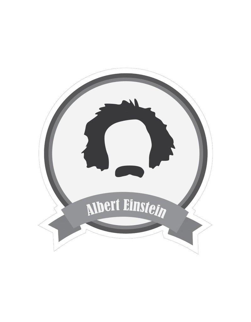 Autocollant moustaches célèbres Einstein