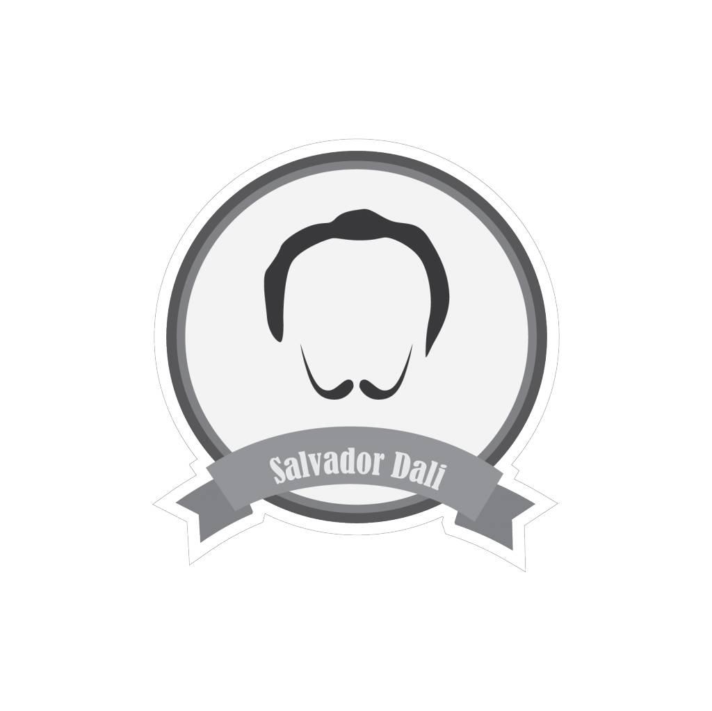 Autocollant moustaches célèbres Dali