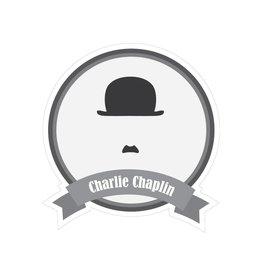 Pegatina bigotes famosos Chaplin