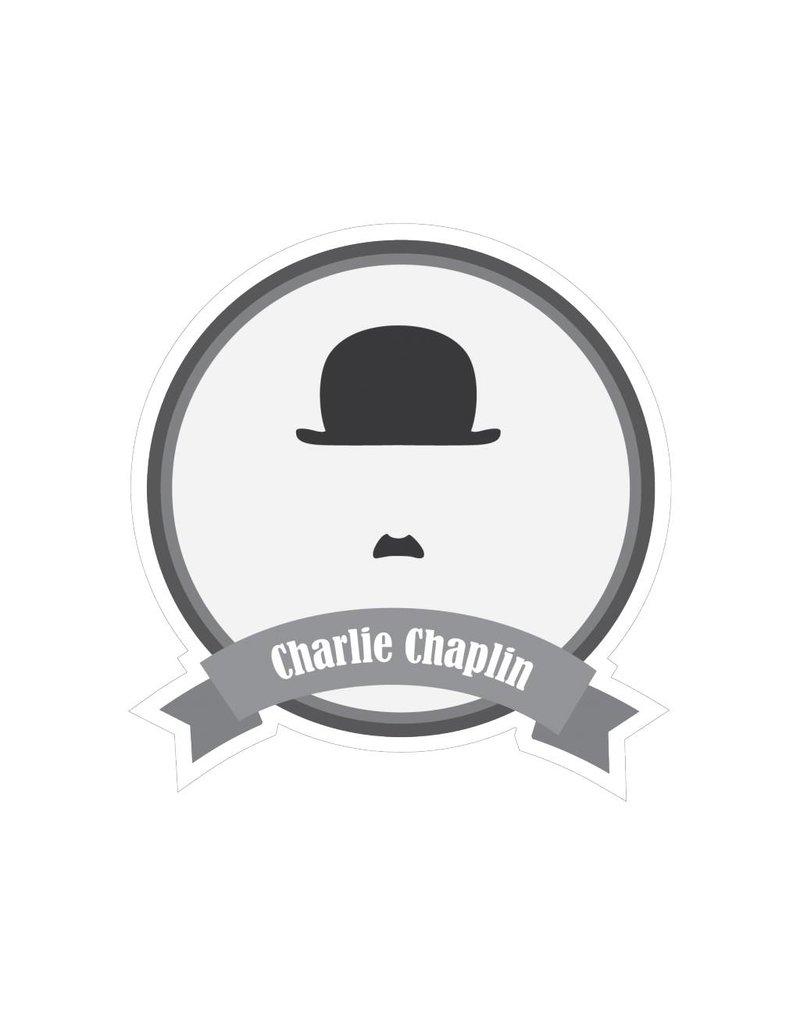 Autocollant moustaches célèbres Chaplin