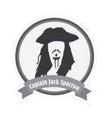 Pegatina bigotes famosos Captain Sparrow