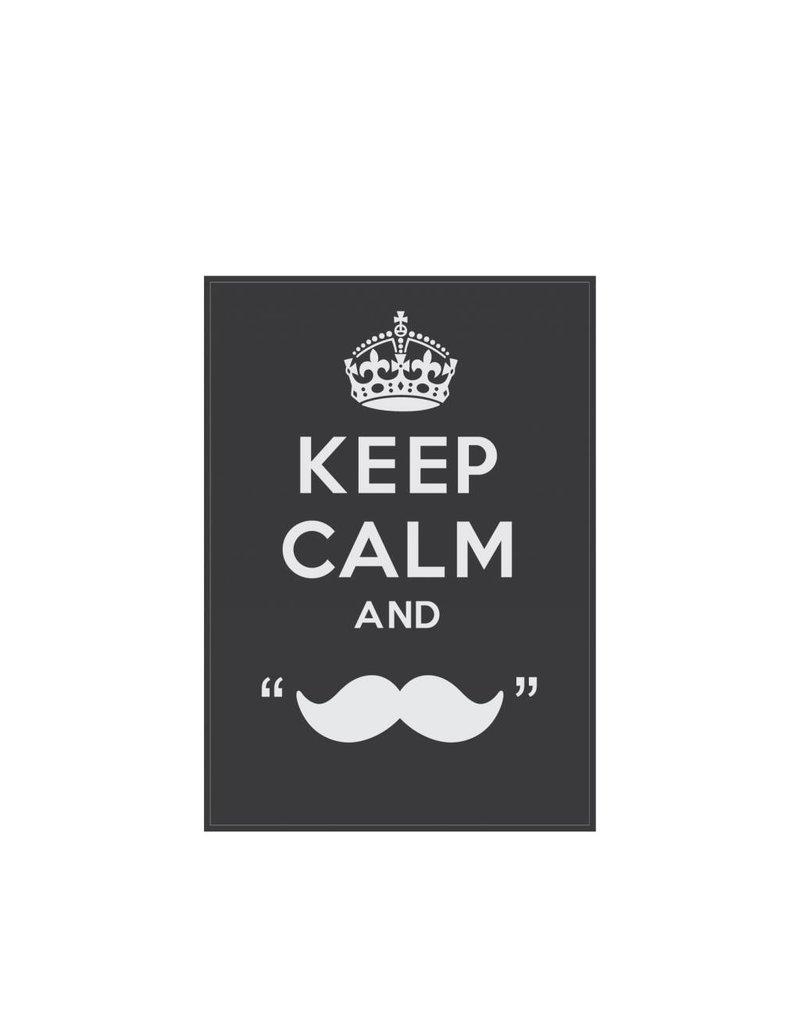 "Autocollant ""Keep calm and grow a moustache"""