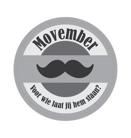 Movember Stamp Sticker