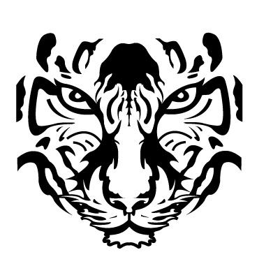 Tigre autocollant