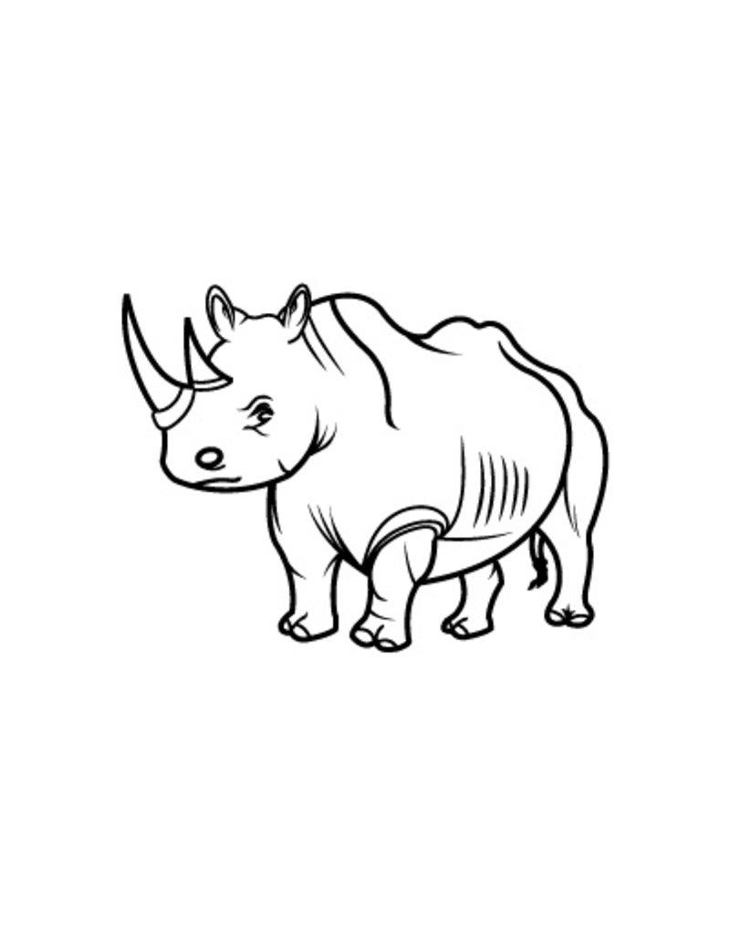 Rhinocéros1 autocollant