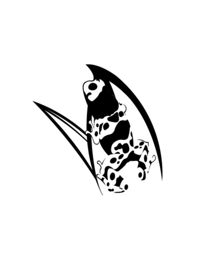 Poison d'art grenouille autocollant