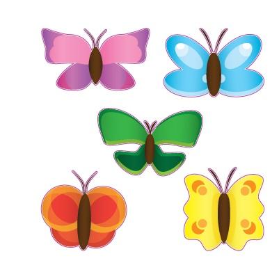 Papillon feuille d'autocollant