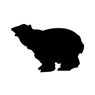 Ours blanc autocollant