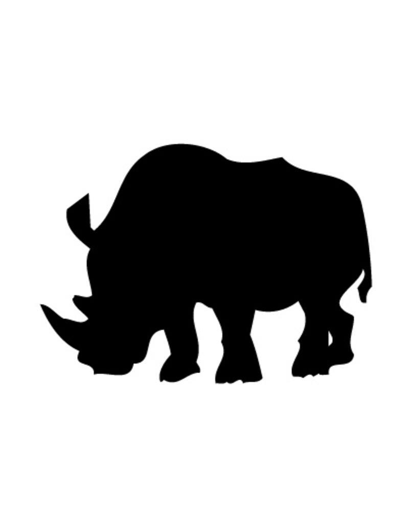 Rhinocéros autocollant