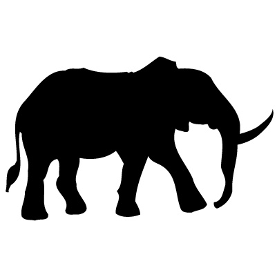 Autocollant d'éléphant