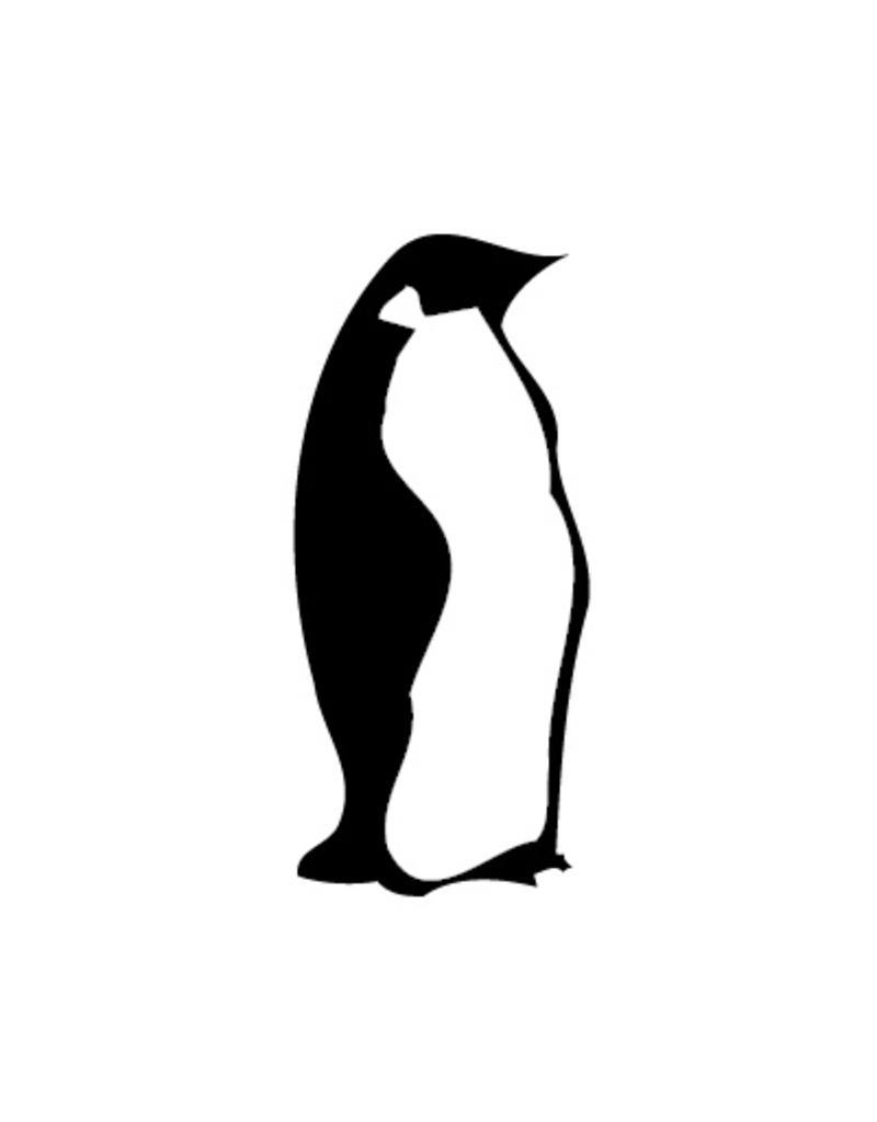 Autocollant pingouin
