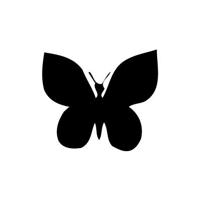 Papillon autocollant