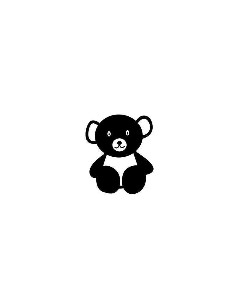 Petite ours autocollant
