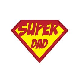 Super hero Dad Sticker