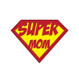 Autocollant super-héros Mom