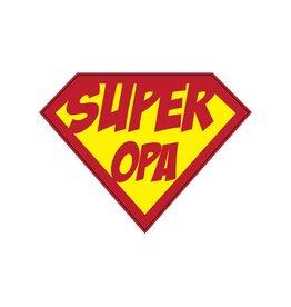 Autocollant super-héros Opa