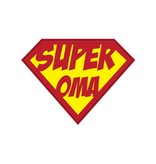 Super hero Oma Sticker